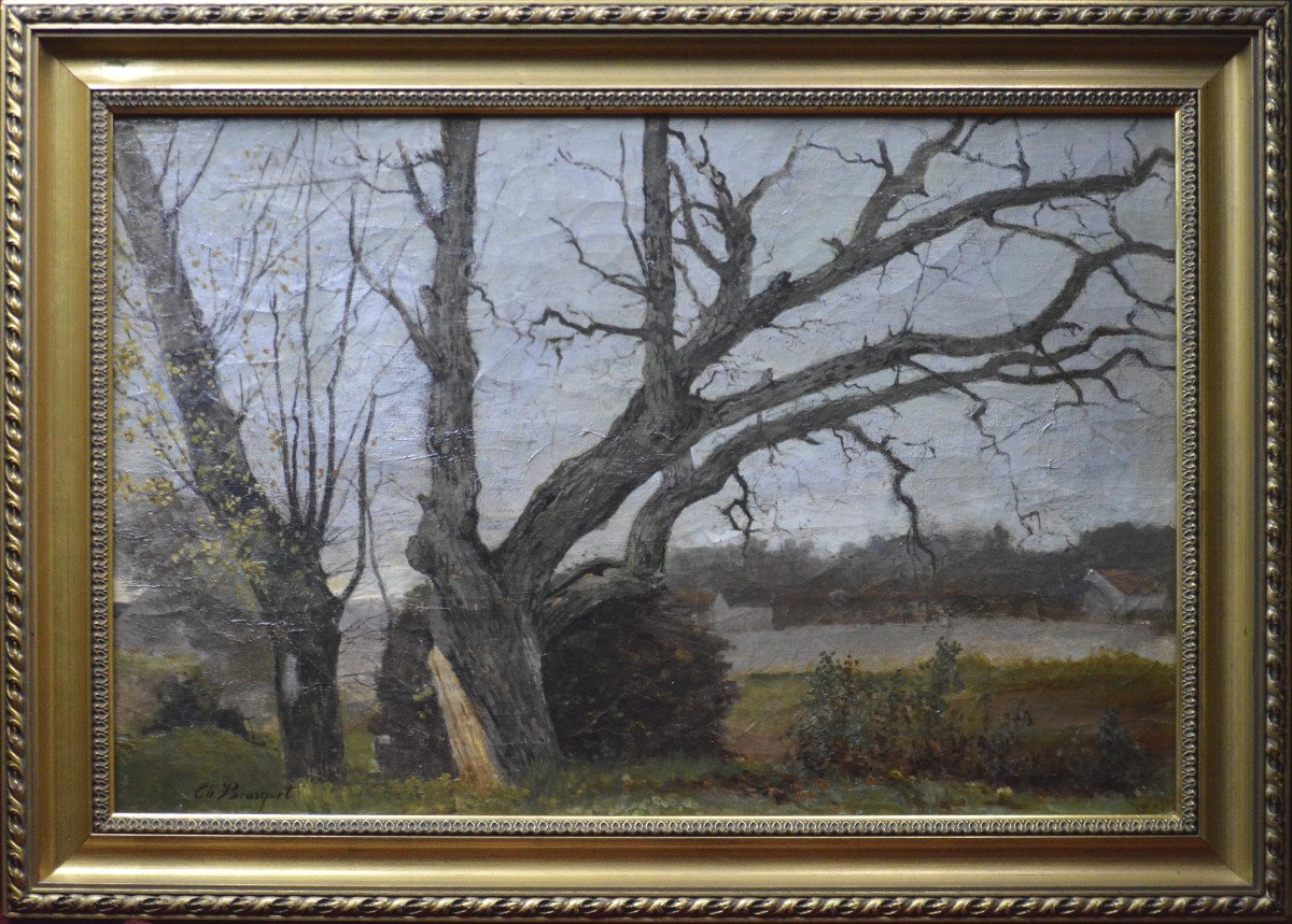 """Charles Bousquet 1856-1946. """"landscapes With Trees."""""""