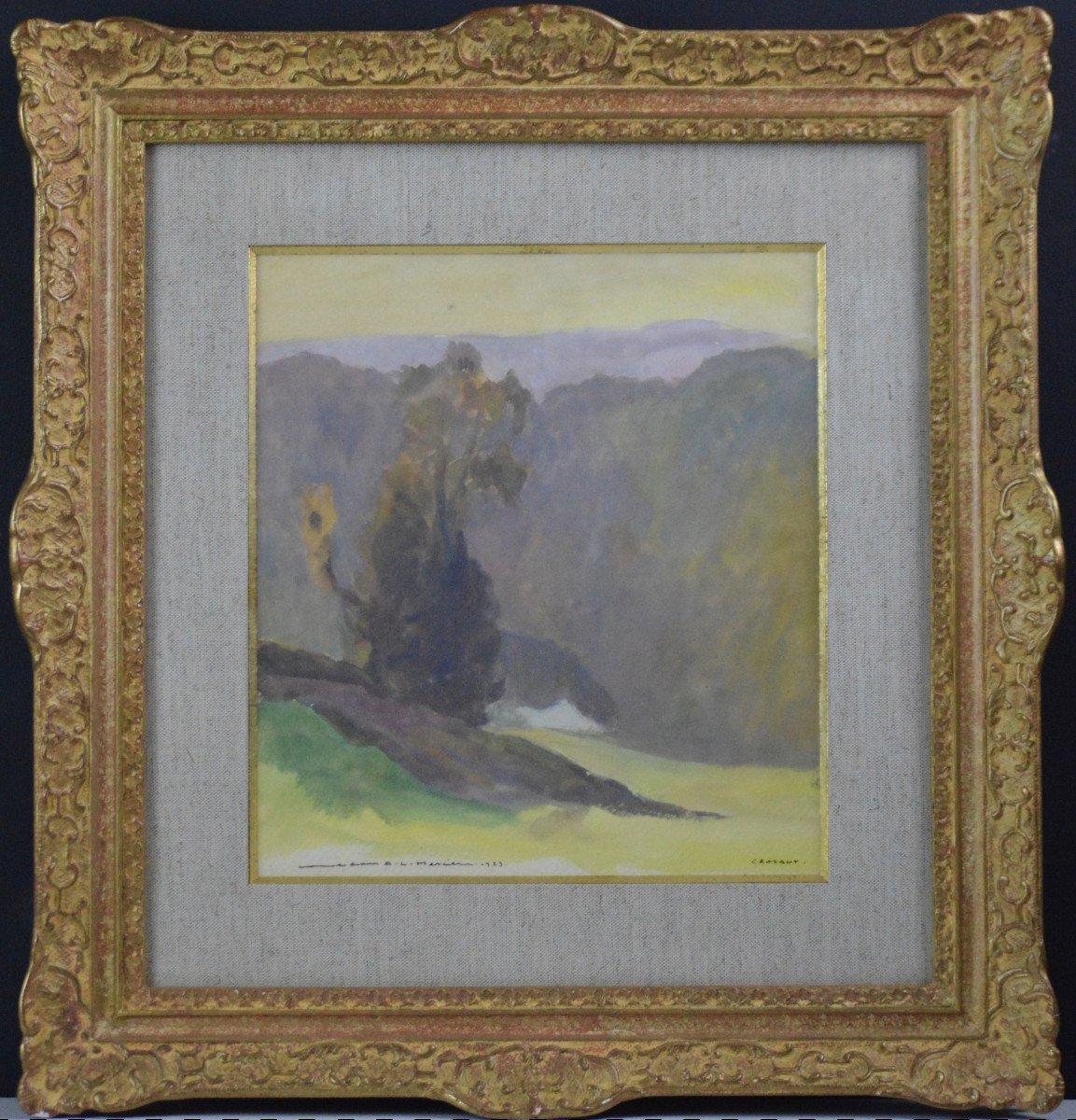 "Jean-adrien Mercier 1899-1995. ""landscape At Crozant."""