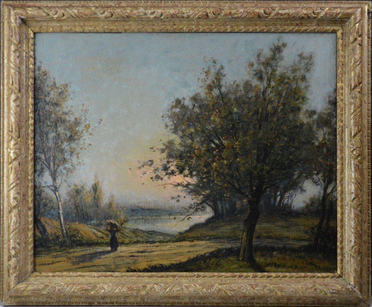 """René Ligeron 1880-1946. """"pond Of The Vallière."""""""