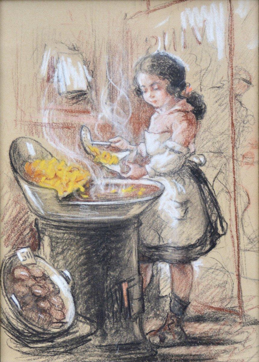 La petite cuisinière vers 1920.-photo-2