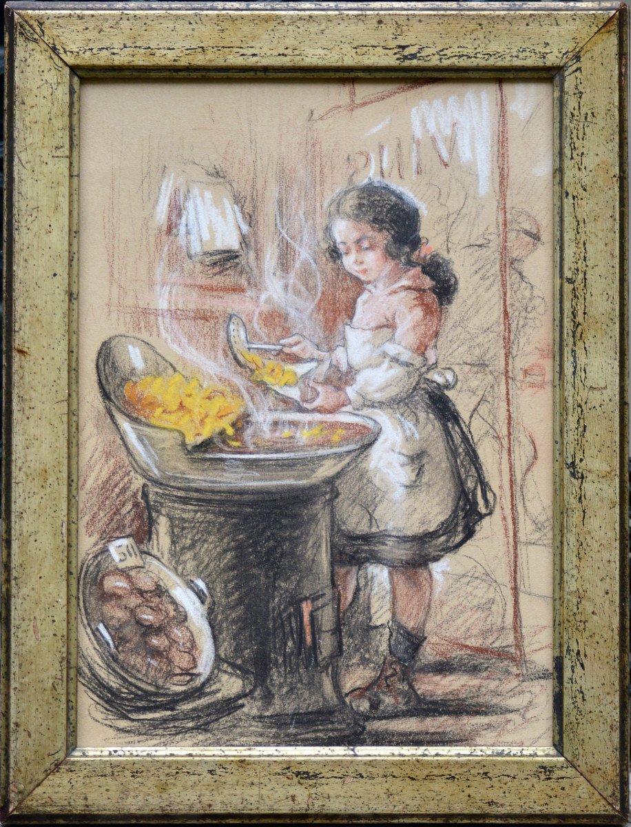 La petite cuisinière vers 1920.