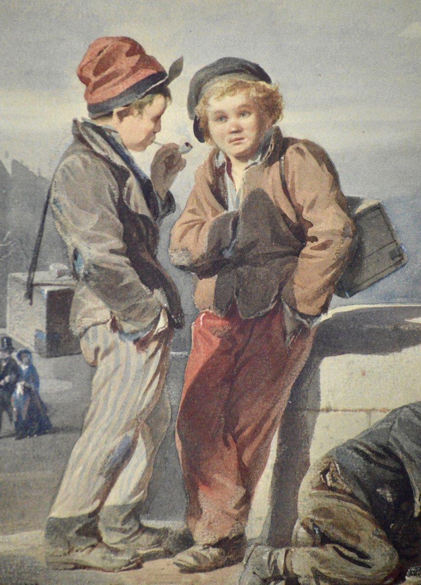 """Victor Camoin 1824-1856. """"Les petits décrotteurs.""""-photo-4"""