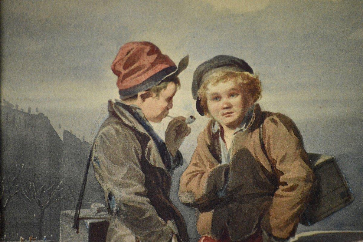 """Victor Camoin 1824-1856. """"Les petits décrotteurs.""""-photo-1"""