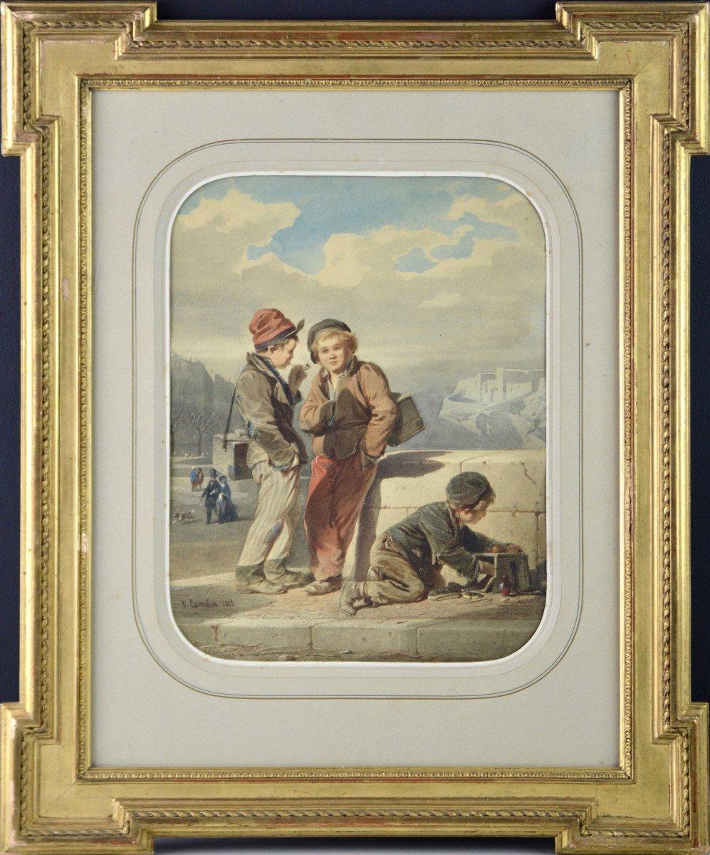 """Victor Camoin 1824-1856. """"Les petits décrotteurs."""""""