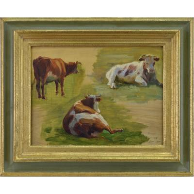 "Charles Wislin 1852-1932. ""cows."""
