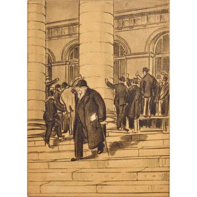 "Raymond Renefer 1879-1957. ""stock Exchange Of Paris."""