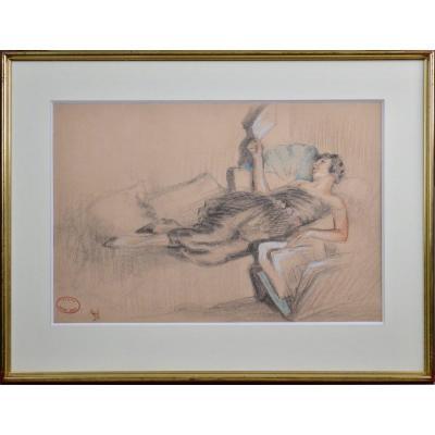 "William Albert Ablett 1877-1937. ""La rêveuse."""
