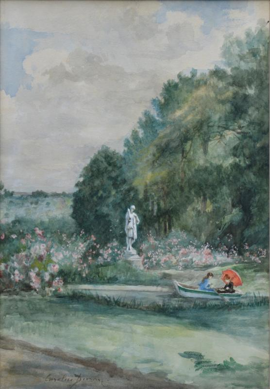 """Charles-carolus Duran 1837-1917. """"boating In The Park.""""-photo-2"""