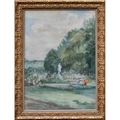 "Charles-carolus Duran 1837-1917. ""boating In The Park."""