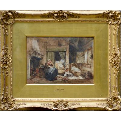 "Herman Frederick Carel Ten-kate 1822-1891. ""happy Hours."""