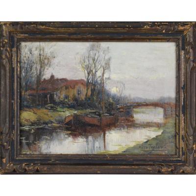 "Kees Terlouw 1890-1942.  "" Bord du Canal."""