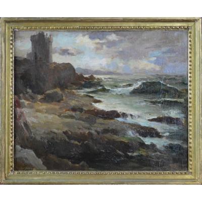 "Joseph Faust 1868-1934. ""Bord de mer."""