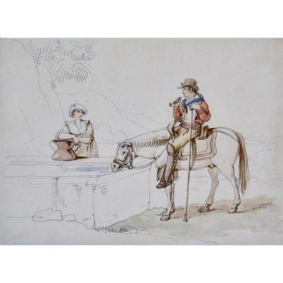 "Bartolomeo Pinelli 1781-1835. ""La séduction."""