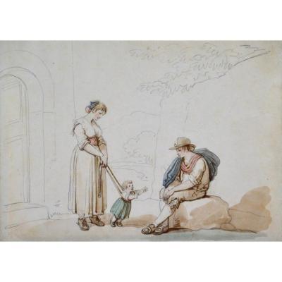 "Bartolomeo Pinelli 1781-1835. ""Famille italienne."""