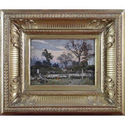 """Louis-Alexandre Cabié 1853-1939. """"Jardin potager."""""""