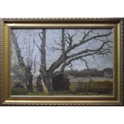 """Charles Bousquet 1856-1946. """"Paysages aux arbres."""""""