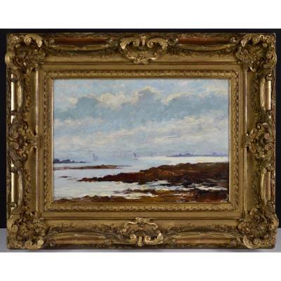 "Léon Laurent Galand 1872-1960. ""Bord de mer."""