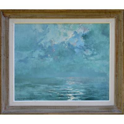 """Georges Lhermitte 1882-1967. """"Reflets sur la mer."""""""