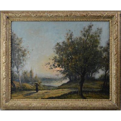 """René Ligeron 1880-1946. """" Étang de la Vallière."""""""