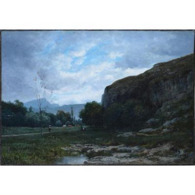 "Horace Antoine Fonville 1832-1914. ""Paysage."""
