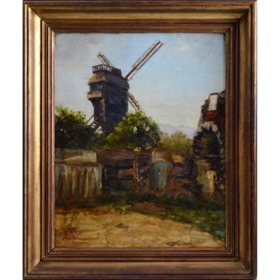 The Mill Of The Galette In Montmartre. Early 20th Century.
