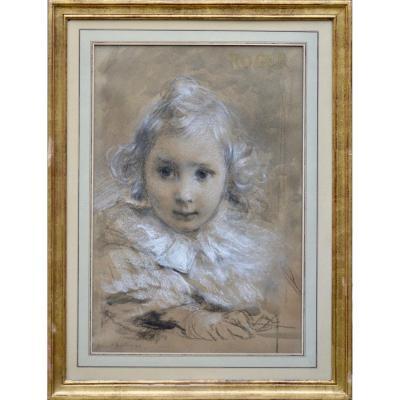 "Armand Berton 1854-1927. ""portait Of Roger."""