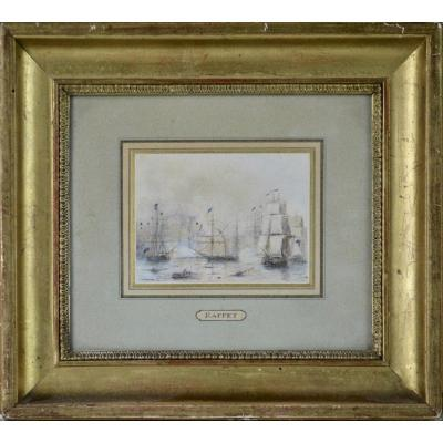 "Auguste Denis Raffet 1804-1860. ""battleship."""