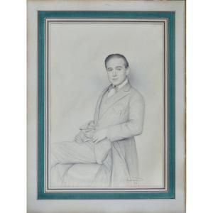 """Jean Coraboeuf 1870-1947.  """"Portrait d'homme."""""""