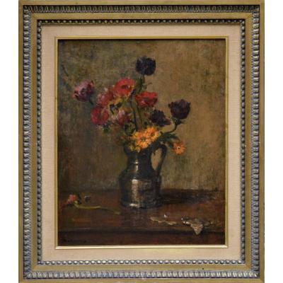 """Émile Boulard 1852-1927.  """"Bouquet de fleurs."""""""