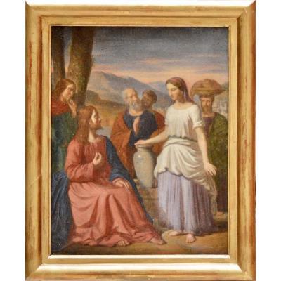 """Antoine Hénault 1810-1867. """"Jésus et la Samaritaine."""""""