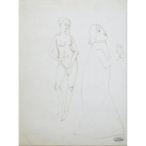 """André Derain 1880-1954. """"Nues et personnage."""""""