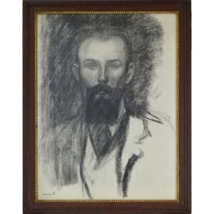 "Théophile-alexandre Steinlen 1859-1923. ""portrait Of A Man."""