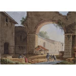 L'hermitage d'Albano (Rome.)