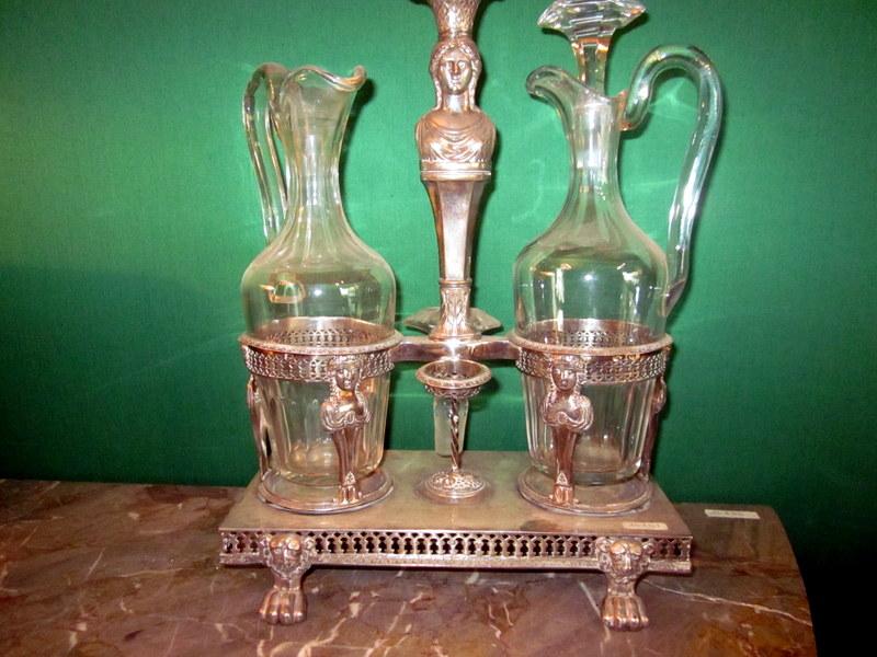 Vinegar Cruet Silver Empire Grenoble Mo Moutet