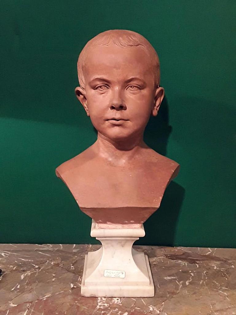 Buste d'Enfant En Terre époque 19e Sculpteur à  Identifier