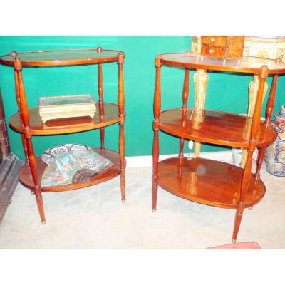 Elegant Pair Of Small Tables Early 19th Time Mahogany Blonde