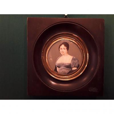 Trignard miniature portrait femme signée
