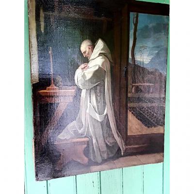 Le Sueur Eustache St Bruno En Prière  Huile Sur Toile 17e Siècle