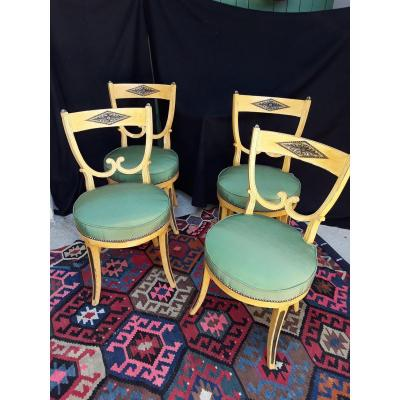 Chairs From A Suite Of 4 Late 18th Early 19th Italy Venice, Lombardy?
