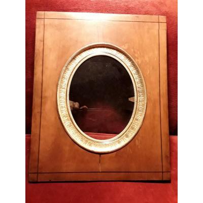 Superbe Cadre En Bois Clair Pour Miniature  Ou Peinture époque Charles  X Belle Dorure