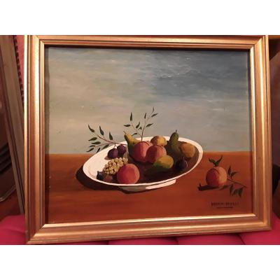 Urbain Faurec       Nature Morte Aux Fruits  20e Siecle