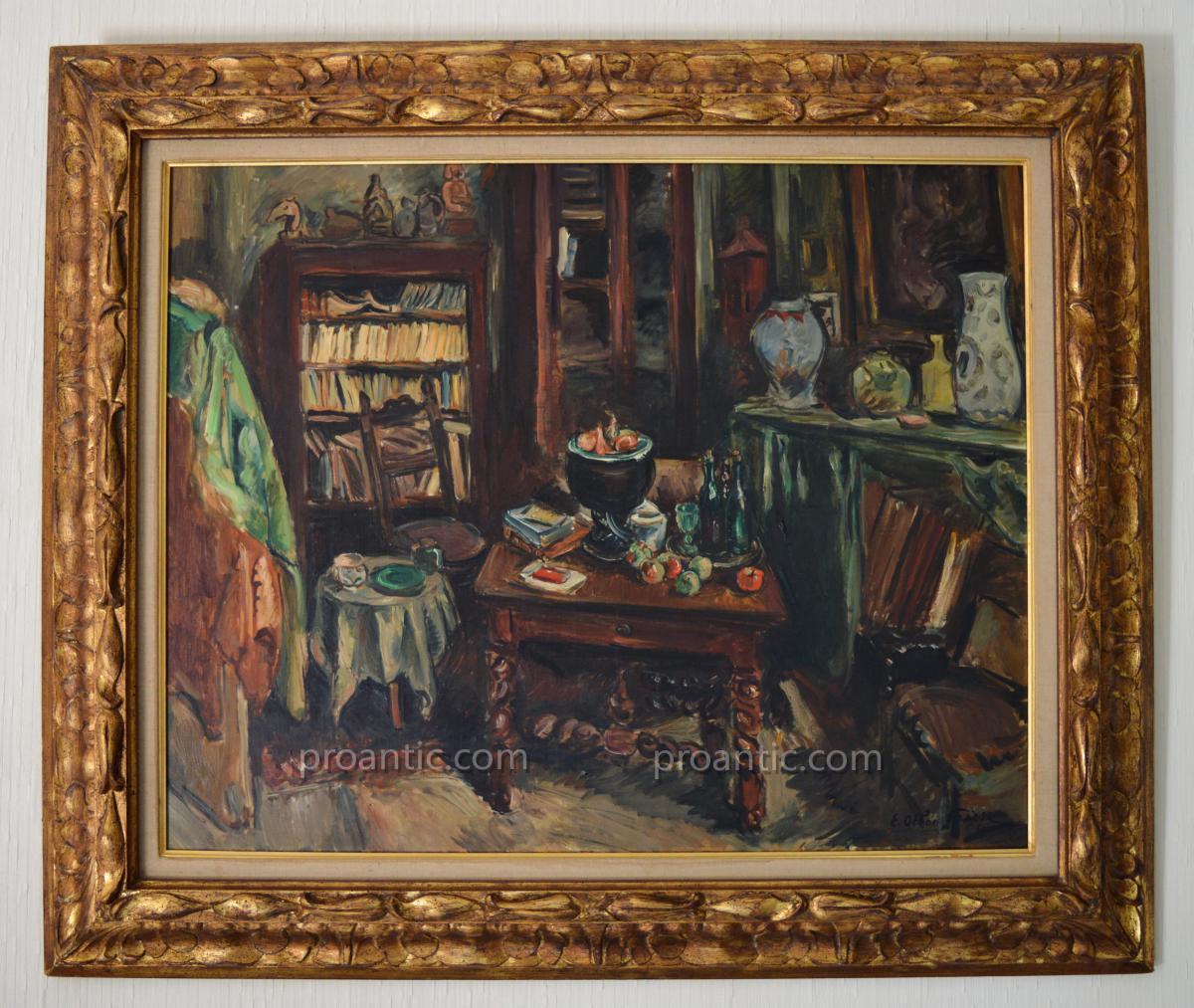 """OTHON FRIESZ Achille (1879-1949) """"Atelier de l'artiste à Paris 1943"""" Zao Wou-Ki Havre"""