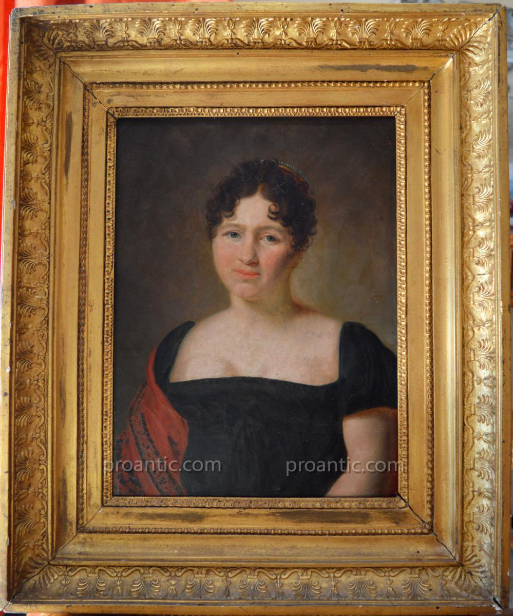 "DELAPLACE Jacques (1767-1831) ""Portrait de madame 1812"" Empire Napoleon"