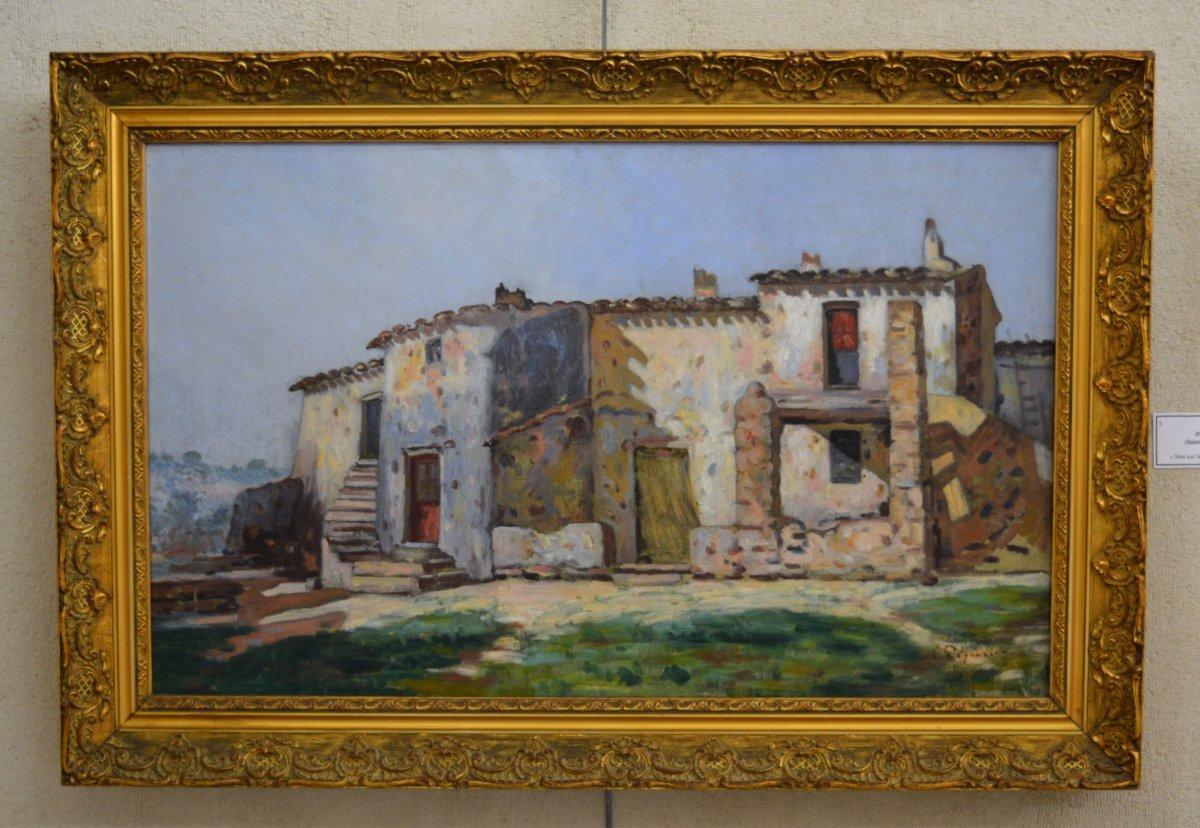 "Pegurier Auguste (1856-1936) ""mas On The Heights Of Saint Tropez"" Var Ramatuelle Provence  Cogolin"