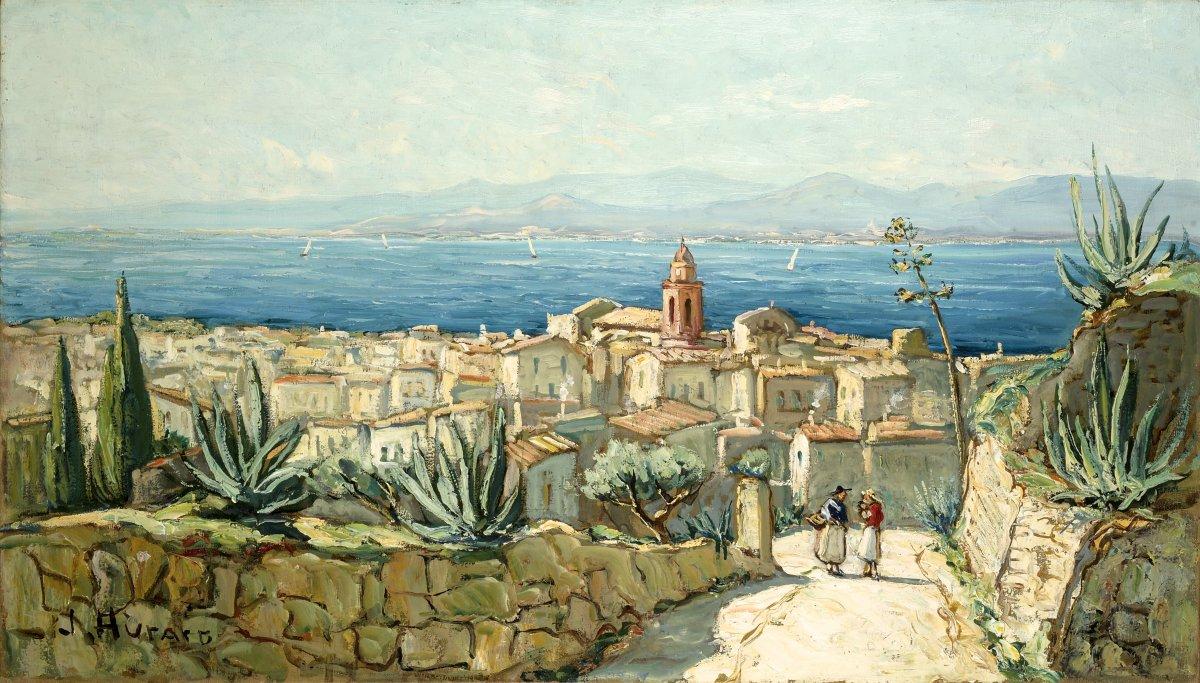 """HURARD Joseph (1887-1956) """"Vue de Saint Tropez depuis la citadelle"""" Provence Avignon Marseille"""