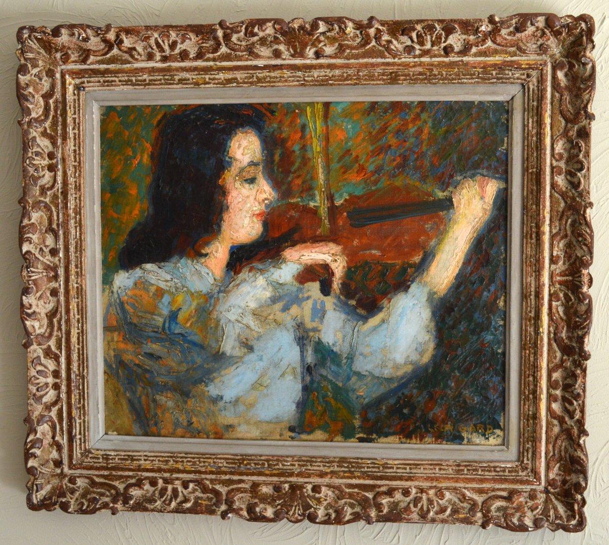 """GARD Léon (1901-1979) """"La valse de Brahms - Portrait de Janine ANDRADE"""" Paris Violoniste Japon Vivaldi Beethoven-photo-2"""
