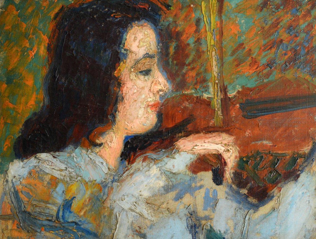 """GARD Léon (1901-1979) """"La valse de Brahms - Portrait de Janine ANDRADE"""" Paris Violoniste Japon Vivaldi Beethoven-photo-4"""
