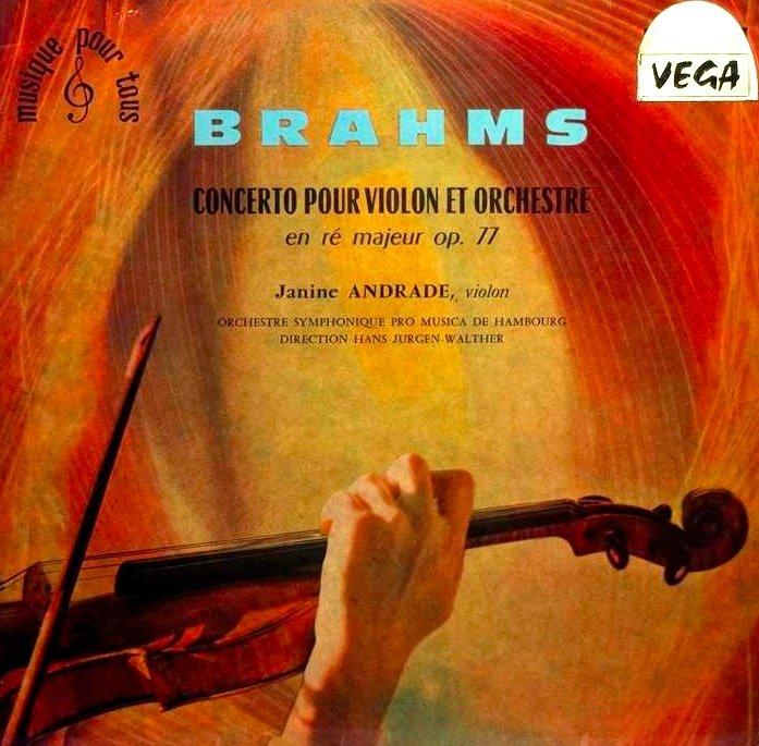 """GARD Léon (1901-1979) """"La valse de Brahms - Portrait de Janine ANDRADE"""" Paris Violoniste Japon Vivaldi Beethoven-photo-3"""