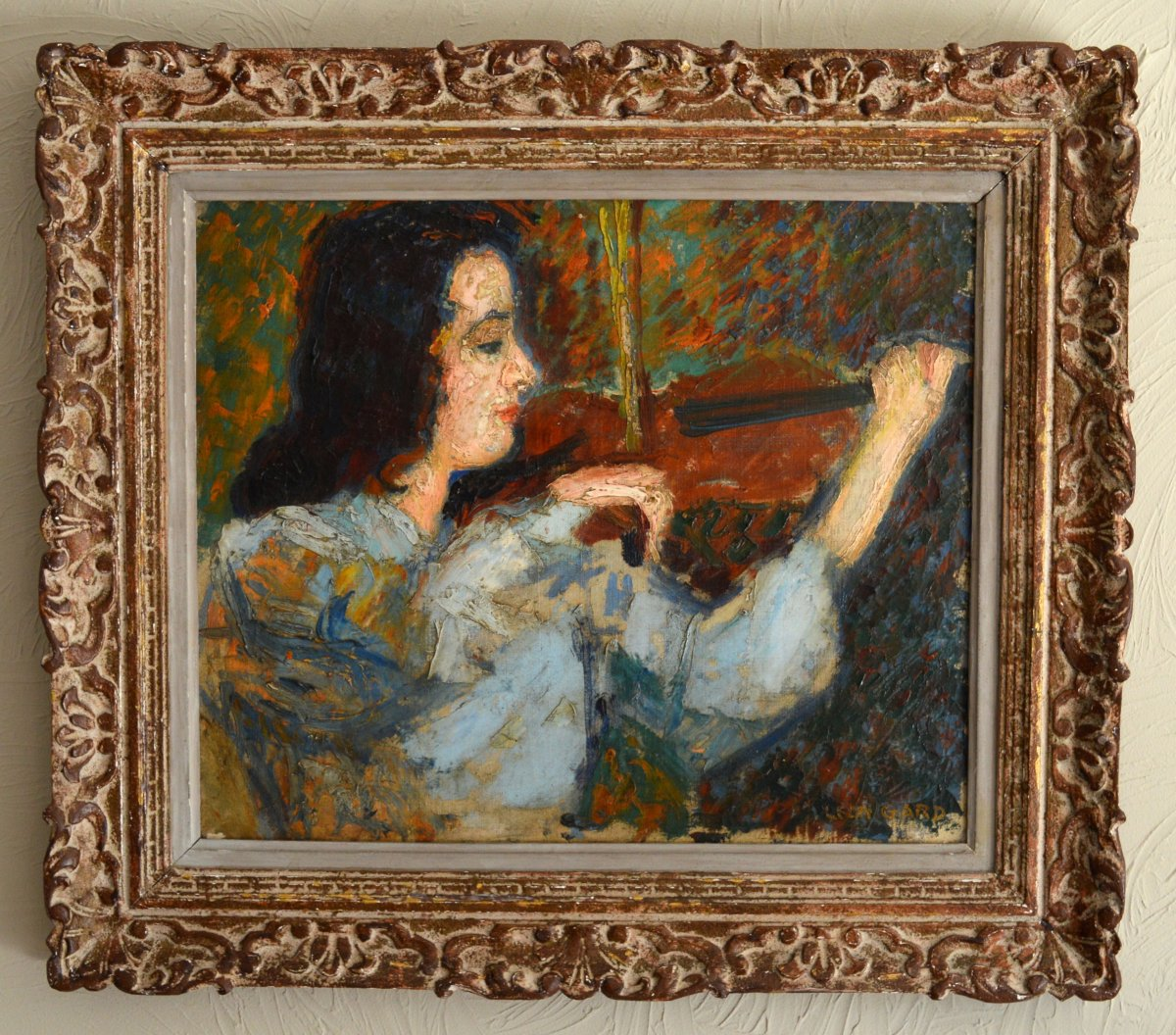 "Gard Léon (1901-1979) ""the Waltz Of Brahms - Portrait Of Janine Andrade"" Paris Violinist Japan Beethoven Vivaldi"