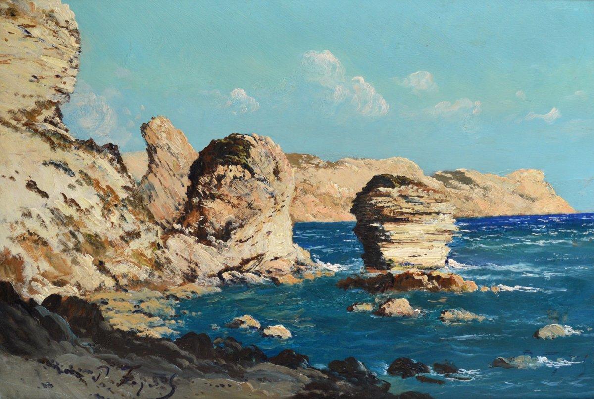 """Faget Germain Pierre (1890-1961) """"grain Of Sand In Bonifacio Corse"""" Figari Propriano Provence Corsica"""